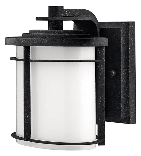 Hinkley Lighting Ledgewood 1 Light GU24 CFL Outdoor Wall in Vintage Black 1126VK-GU24