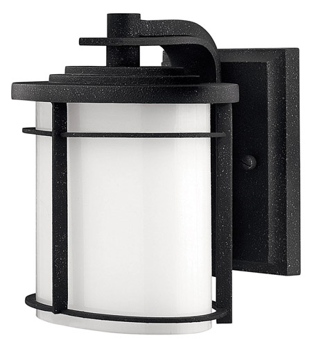 Hinkley Lighting Ledgewood 1 Light Outdoor Wall Lantern in Vintage Black 1126VK