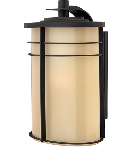 Hinkley 1129MR Ledgewood 1 Light 20 inch Museum Bronze Outdoor Wall Lantern in Champagne Inside-Etched, Incandescent photo