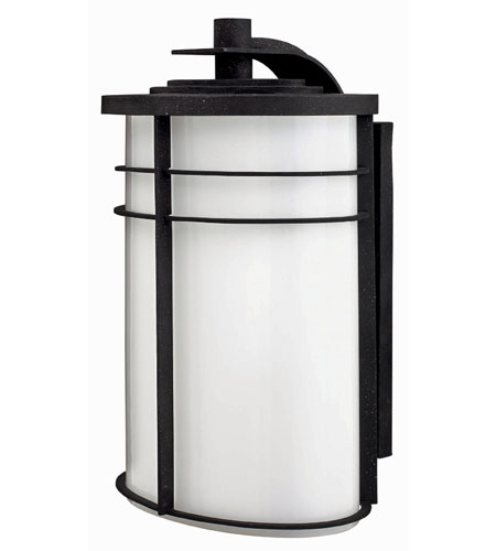 Hinkley Lighting Ledgewood 1 Light Outdoor Wall Lantern in Vintage Black 1129VK-ES