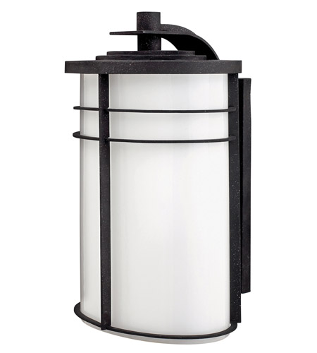 Hinkley Lighting Ledgewood 1 Light GU24 CFL Outdoor Wall in Vintage Black 1129VK-GU24 photo