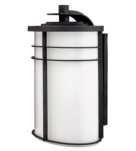 Hinkley 1129VK Ledgewood 1 Light 20 inch Vintage Black Outdoor Wall Lantern in Cased Opal, Incandescent photo