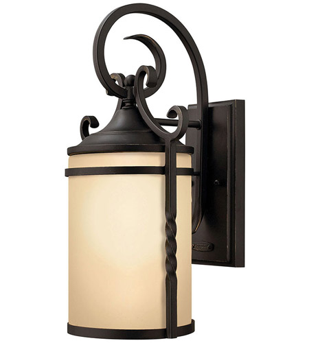 Hinkley Lighting Casa 1 Light Outdoor Wall Lantern in Olde Black 1140OL