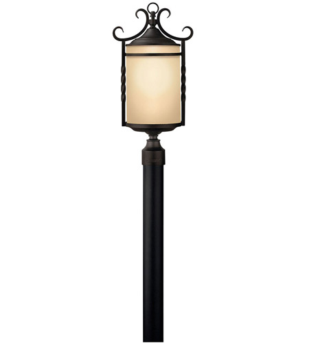 Hinkley 1141OL Casa 3 Light 24 inch Olde Black Post Lantern in Incandescent, Post Sold Separately photo