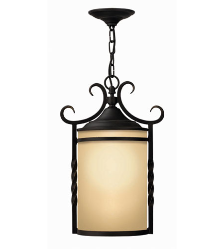 Hinkley Lighting Casa 1 Light Outdoor Hanging Lantern in Olde Black 1142OL-DS
