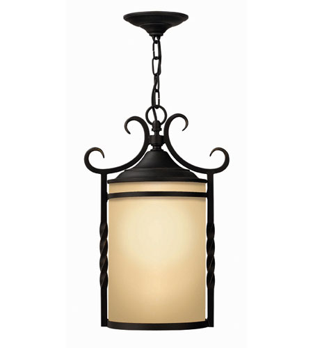 Hinkley Lighting Casa 1 Light Outdoor Hanging Lantern in Olde Black 1142OL-ES