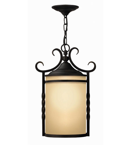 Hinkley Lighting Casa 1 Light Outdoor Hanging Lantern in Olde Black 1142OL-ESDS