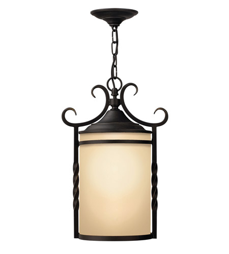 Hinkley Lighting Casa 1 Light GU24 CFL Outdoor Hanging in Olde Black 1142OL-GU24