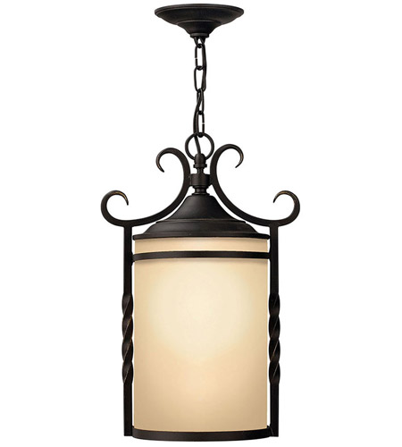 Hinkley 1142OL Casa 1 Light 12 inch Olde Black Outdoor Hanging Light in Incandescent photo