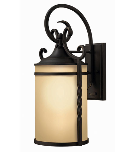 Hinkley Lighting Casa 1 Light Outdoor Wall Lantern in Olde Black 1145OL-ESDS