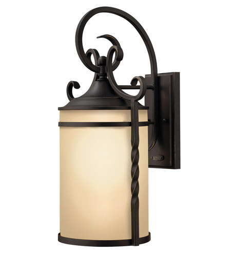 Hinkley Lighting Casa 1 Light GU24 CFL Outdoor Wall in Olde Black 1145OL-GU24 photo
