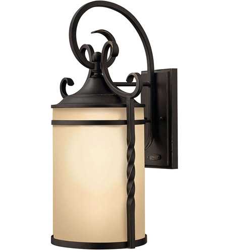 Hinkley 1145OL Casa 1 Light 21 inch Olde Black Outdoor Wall Lantern in Incandescent photo