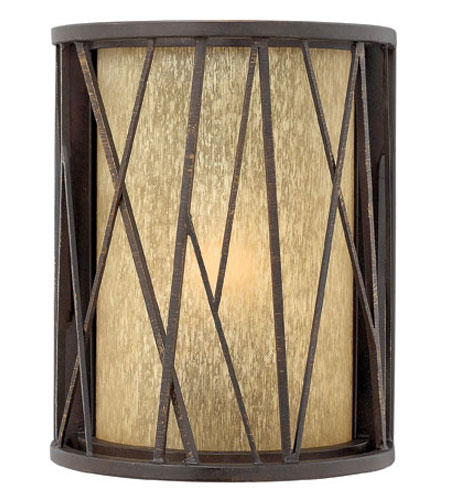 Hinkley Lighting Elm 1 Light Outdoor Wall Lantern in Regency Bronze 1150RB-ES