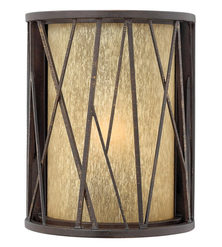 Hinkley 1150RB-GU24 Elm 1 Light 10 inch Regency Bronze Outdoor Wall in GU24, Amber Etched Glass photo