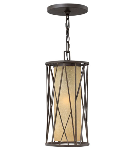 Hinkley Lighting Elm 1 Light Outdoor Hanging Lantern in Regency Bronze 1152RB-ES photo