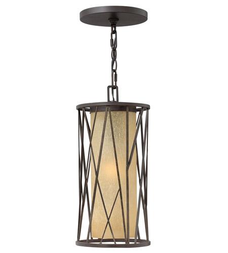 Hinkley Lighting Elm 1 Light GU24 CFL Outdoor Hanging in Regency Bronze 1152RB-GU24