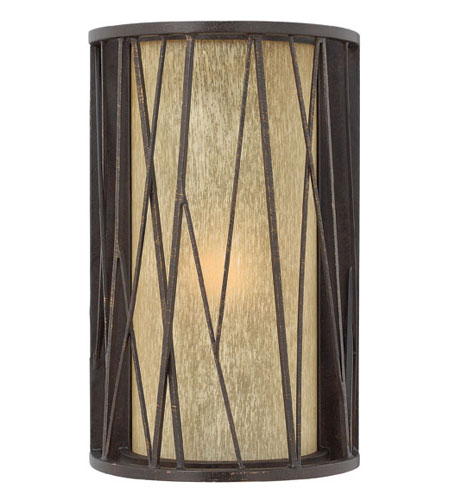 Hinkley Lighting Elm 1 Light Outdoor Wall Lantern in Regency Bronze 1154RB-ES