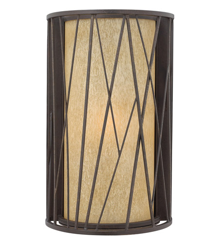 Hinkley 1155RB-GU24 Elm 1 Light 18 inch Regency Bronze Outdoor Wall in GU24, Amber Etched Glass photo