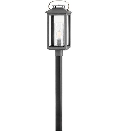Hinkley 1161AH Atwater 1 Light 23 inch Ash Bronze Outdoor Post Top Pier Mount, Coastal Elements photo