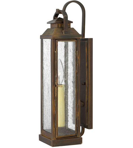 Hinkley 1180SN Revere 1 Light 18 inch Sienna Outdoor Wall Lantern photo