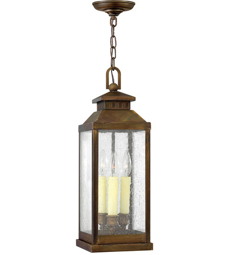 Hinkley Lighting Revere 3 Light Outdoor Hanging Lantern in Sienna 1182SN
