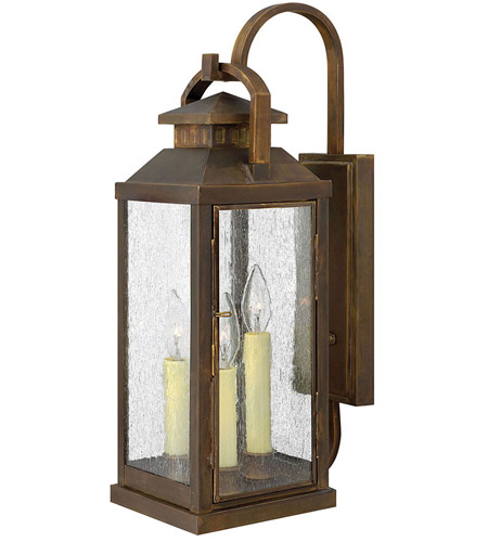 Hinkley Lighting Revere 3 Light Outdoor Wall Lantern in Sienna 1185SN photo