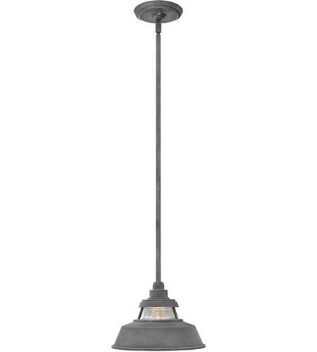 Hinkley 1192DZ Troyer 1 Light 10 inch Aged Zinc Outdoor Hanging Light, Open Air photo