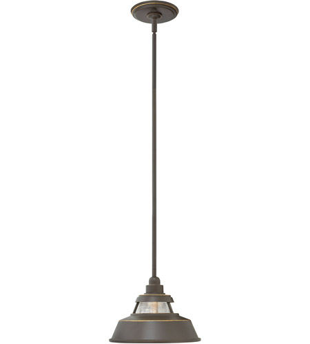 Hinkley 1192OZ Troyer 1 Light 10 inch Oil Rubbed Bronze Outdoor Hanging Light, Open Air photo