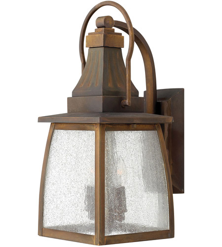 Hinkley 1200SN-LED Montauk 1 Light 17 inch Sienna Outdoor Wall in LED, Clear Seedy Glass photo