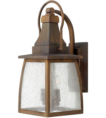 Hinkley 1200SN Montauk 2 Light 17 inch Sienna Outdoor Wall Mount in Incandescent, Clear Seedy Glass photo
