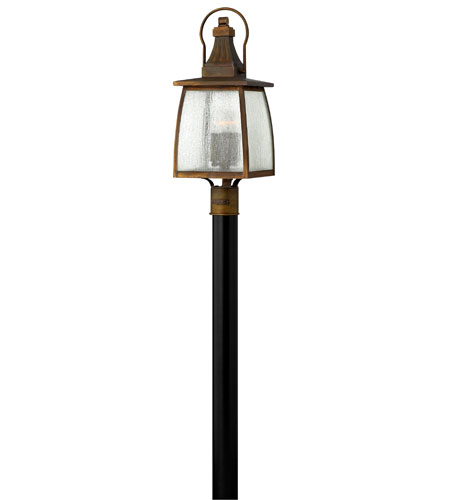 Hinkley Lighting Montauk 1 Light Post Lantern (Post Sold Separately) in Sienna 1201SN-ES