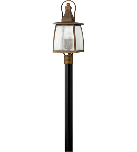 Hinkley 1201SN Montauk 4 Light 24 inch Sienna Post Lantern in Incandescent, Clear Seedy Glass, Post Sold Separately photo