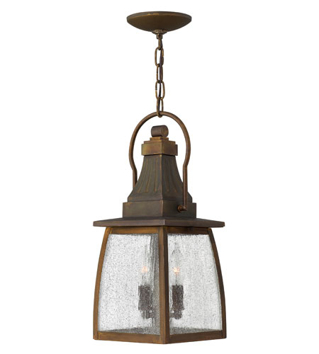 Hinkley Lighting Montauk 1 Light Outdoor Hanging Lantern in Sienna 1202SN-ES