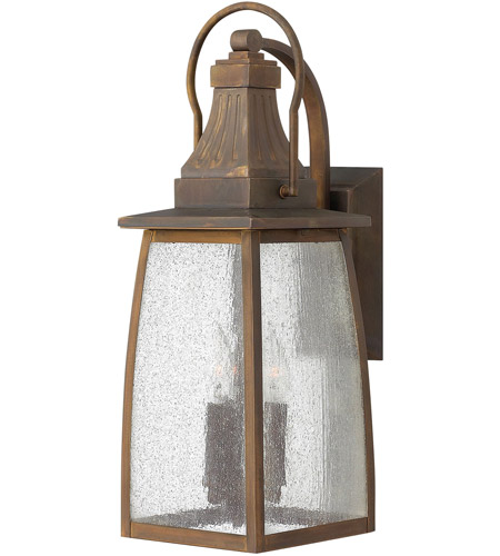 Hinkley 1204SN-LED Montauk 1 Light 21 inch Sienna Outdoor Wall in LED, Clear Seedy Glass photo