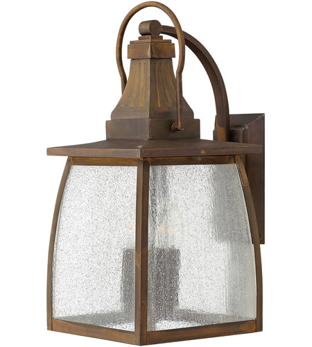 Hinkley 1205SN-LED Montauk 1 Light 20 inch Sienna Outdoor Wall in LED, Clear Seedy Glass photo