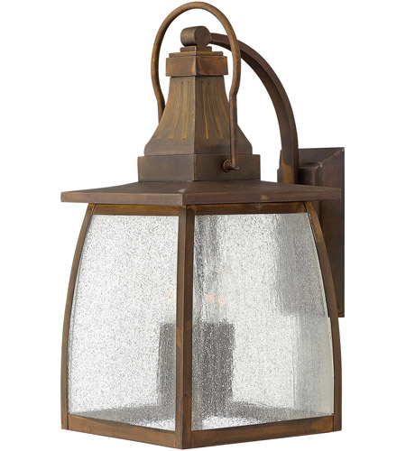 Hinkley 1205SN Montauk 4 Light 20 inch Sienna Outdoor Wall Mount in Incandescent, Clear Seedy Glass photo