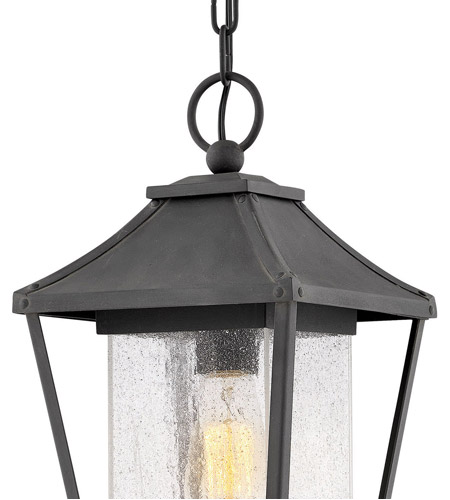 Hinkley 1212MB Palmer 1 Light 8 inch Museum Black Outdoor Hanging Lantern alternative photo thumbnail