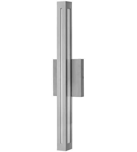 Vue LED 26 inch Titanium Outdoor Wall Mount, White Acrylic Panels