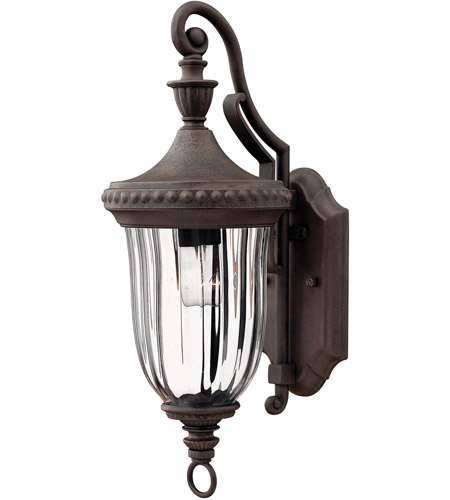 Hinkley 1240MN Oxford 1 Light 17 inch Midnight Bronze Outdoor Wall Mount photo