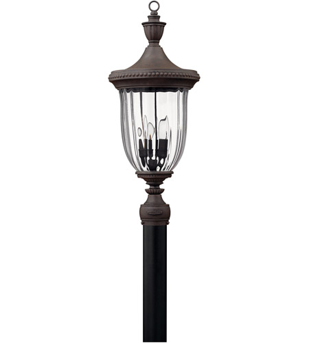 Hinkley 1241MN Oxford 3 Light 28 inch Midnight Bronze Outdoor Post Mount, Post Sold Separately  photo