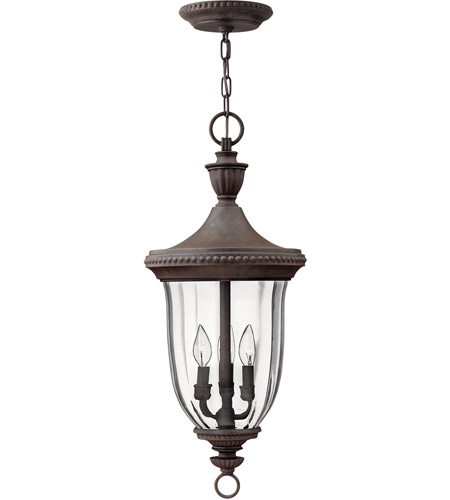 Hinkley Lighting Oxford 3 Light Outdoor Hanging Lantern in Midnight Bronze 1242MN