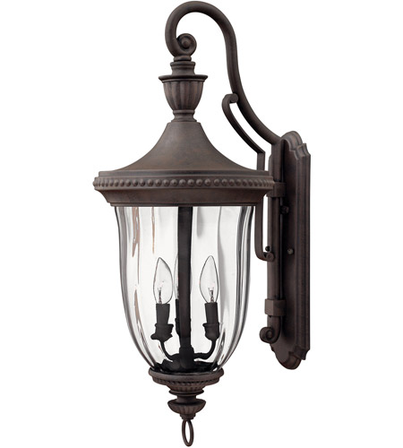 Hinkley Lighting Oxford 3 Light Outdoor Wall Lantern in Midnight Bronze 1245MN
