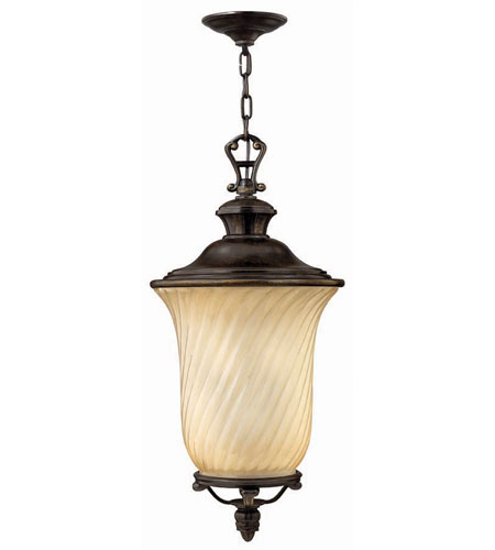 Hinkley Lighting San Mateo 3 Light Outdoor Hanging Lantern in Regency Bronze 1252RB