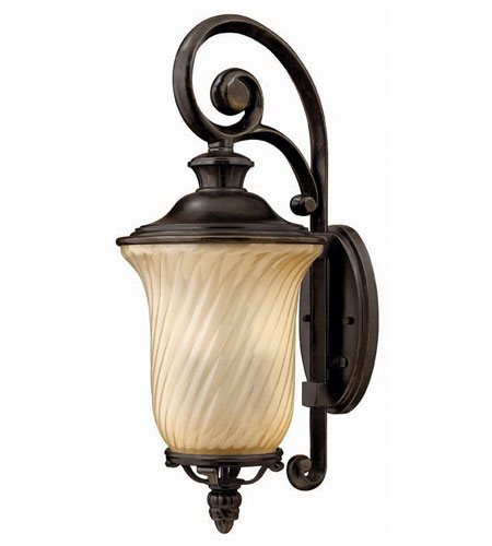 Hinkley Lighting San Mateo 3 Light Outdoor Wall Lantern in Regency Bronze 1254RB
