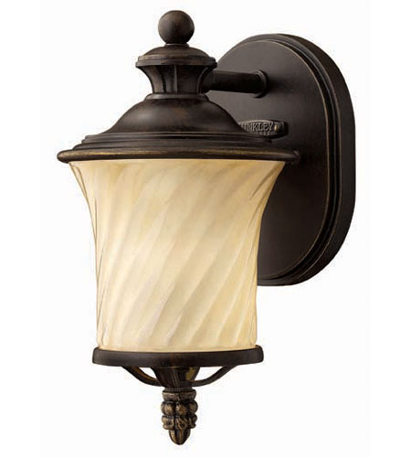 Hinkley Lighting San Mateo 1 Light Outdoor Wall Lantern in Regency Bronze 1256RB photo