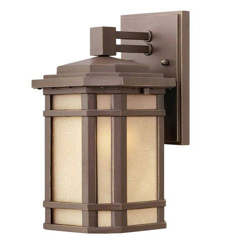 Hinkley 1270OZ-LED Cherry Creek LED 11 inch Oil Rubbed Bronze Outdoor Wall Lantern in Amber Linen photo