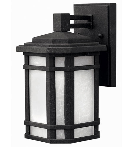 Hinkley Lighting Cherry Creek 1 Light Outdoor Wall Lantern in Vintage Black 1270VK-DS photo