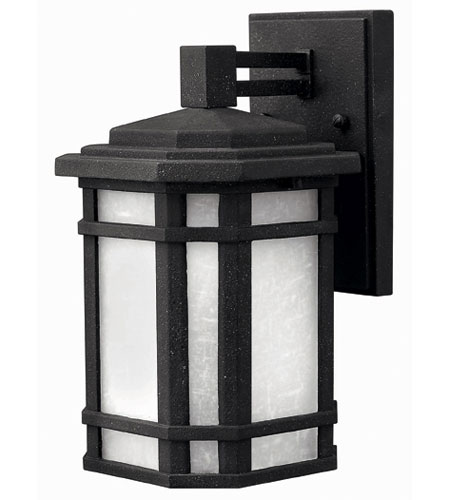 Hinkley Lighting Cherry Creek 1 Light Outdoor Wall Lantern in Vintage Black 1270VK-ES photo