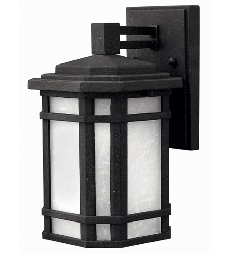 Hinkley Lighting Cherry Creek 1 Light Outdoor Wall Lantern in Vintage Black 1270VK-ESDS photo
