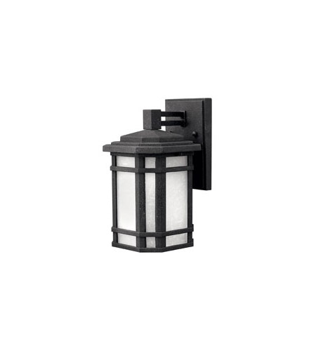 Hinkley Lighting Cherry Creek 1 Light Outdoor Wall Lantern in Vintage Black 1270VK-LED